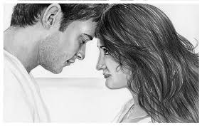 best face kissing sketches cute love drawings pencil art hd