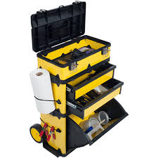 Tool Cabinet On Wheels by Stalwart Rolling Stacking Portable Metal Trolley Toolbox Chest