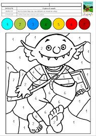 le petit ogre veut aller à l u0027école coloriage magique avec des