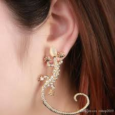 ear cuffs online popular fashion 2016 jewelry ear cuff earrings women gecko diamond