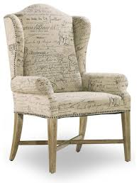 Target Armchair Wing Back Dining Arm Chair Parchment Document Fabric Contemporary