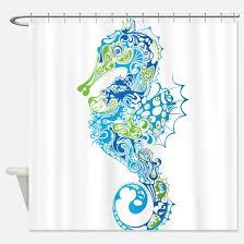 seahorse shower curtains cafepress