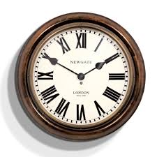 buy newgate clocks king u0027s cross station clock dark wood large