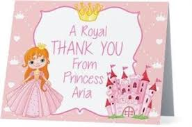 printable thank you cards princess princess theme birthday party printables