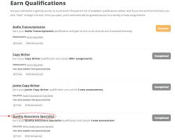 Quality Assurance Specialist Resume Earning Qualifications Onespace Support