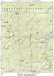 Georgia State Parks Map by Coosa Bald Via Vogel State Park N2backpacking Com