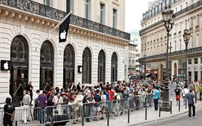 paris apple store paris newest apple store inside look freshness mag
