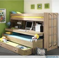 bureau surélevé lit avec bureau coulissant lit mezzanine avec bureau pour fille