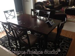 mandy paints her pottery barn dining room table a restoration