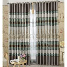 luxury gold tree pattern thick suede thermal blackout curtains in