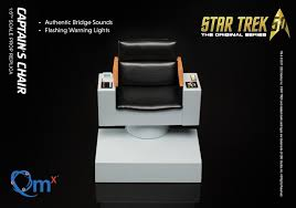 Leather Captains Chairs Star Trek Tos Captains Chair Sixth Scale Replica Qmx Planet
