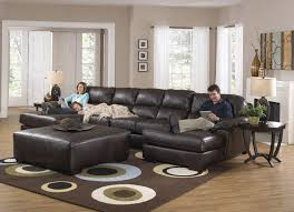 Sofas On Sale Living Room Odyssey Leather Sectional Sofa With Chaise Pillowtop