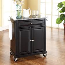 kitchen islands granite top crosley newport granite top kitchen cart island portable hayneedle