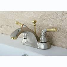Two Tone Bathroom Faucets by Brushed Brass Bathroom Faucet Idea A1houston Com