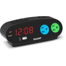 sharp lcd digital alarm clock black walmart com