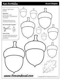 acorn templates acorn shapes preschool fall pinterest