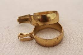 vintage solid brass curtain rings round ring curtain clips for