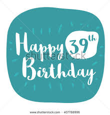 happy 19th birthday card brush lettering stock vector 409347322