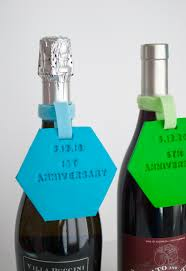 Anniversary Wine Bottles Diy Wedding Gift Wine Tags That Transform Into Christmas Ornament