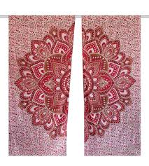 Hippie Curtains Drapes by Mandala Window Curtains And Drapes Handicrunch Com