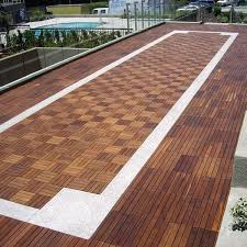 outdoor wood deck tile contemporary patio chicago by home