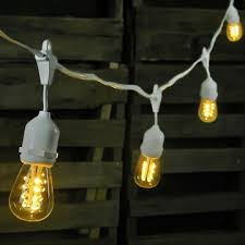 led edison string lights 100 foot white wire warm white commercial led edison drop string