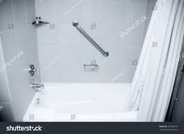 Bathtub Handicap Railing Bathtub Shower Handicapped Hand Rail Stock Photo 196506779