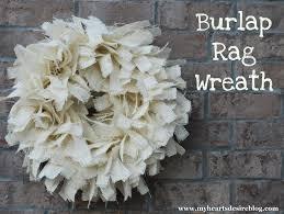 burlap rag wreath tutorial amanda jane brown