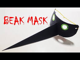 How To Make A Paper Beak - how to make paper mask beak mask tutorial