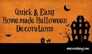 Easy Home Halloween Decorations Homemade Halloween Decorations Quick U0026 Easy