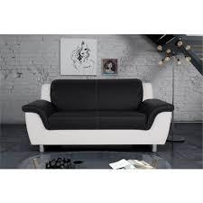 canapé design noir et blanc canapé 2 ou 3 places simili design andre pas cher à prix auchan
