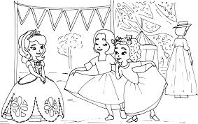 sofia the first coloring pages the sun flower pages