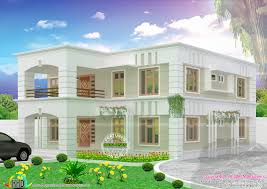 2778 square feet flat roof house kerala home design and 2 floor