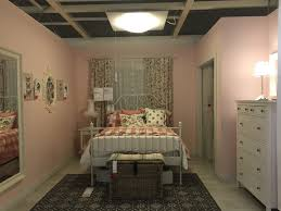ikea showroom leirvik bed hemnes nightstand and dresser pink walls