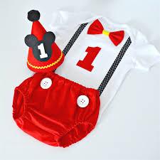 mickey mouse 1st birthday shirt mickey mouse 1st birthday cake smash set hat nappy
