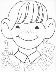 Listening Ears Coloring Page Online Coloring Printable Ear Coloring Page