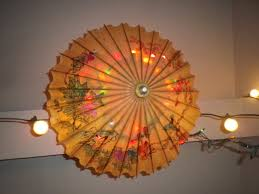 home decor from recycled materials japanese parasol light bamboo home decor lighting diy