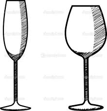martini glasses clinking depositphotos 36838563 stock illustration hand drawn wine glass