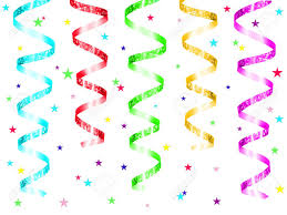 party streamers colorful party streamers and confetti stock photo picture and