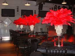 hollywood themed red carpet centerpieces at the warehouse east