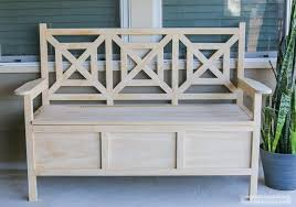 Garden Storage Bench Diy by Outdoor Storage Bench With Cushion Top Features Deck Storage Bench