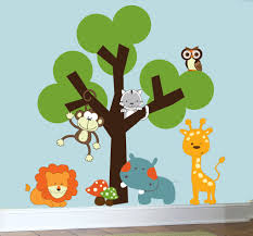 childrens nursery decals animal jungle wall art vinyl wall tree childrens nursery decals animal jungle wall art vinyl wall tree decal 129 00 via etsy