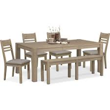 Tribeca Table And  Side Chairs Gray Value City Furniture - Value city furniture dining room
