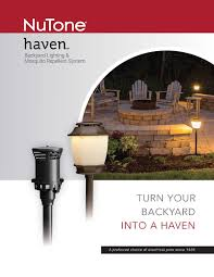 nutone haven backyard lighting u0026 mosquito repellent system ajb sales