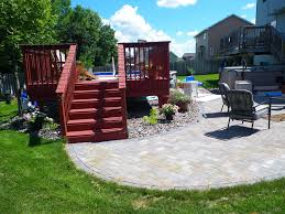 above ground pool decks and landscaping the beauty of above