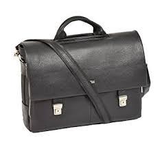 serviette de bureau pour homme serviette en cuir véritable noir pour homme exécutif epaule satchel