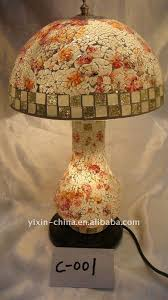 Mosaic Table Lamp Home Decorative Mushroom Shape Glass Mosaic Table Lamp Mosaic