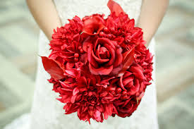 Red Wedding Bouquets Red Pink Ivory Wedding Flowers Romantic Bridal Bouquet