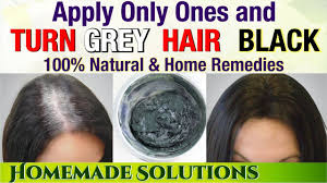 turn grey hair black forever natural remedy to turn hair black