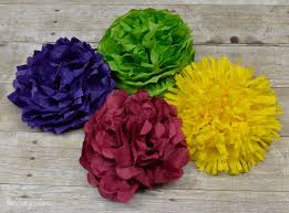 tissue paper flowers how to make tissue paper flowers four ways hey let s make stuff